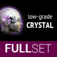 FULL SET OF LOW-GRADE CRYSTAL IMPLANTS