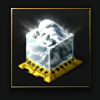 Compressed Pristine White Glaze (ice ore) - 1,000 units